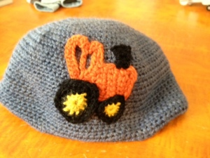 Connor's tractor hat